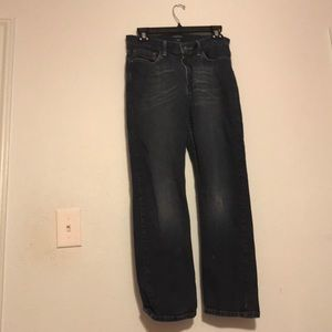 Dark blue jeans straight fit